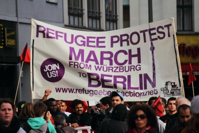 Refugee Protest Marsch in Berlin